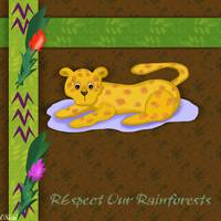 Respect Our Rainforests Leopard