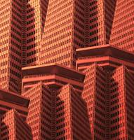 Multiplied towers in Barcelona (in Orange)