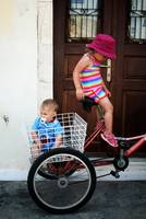 Brother And Sister Bike Ride