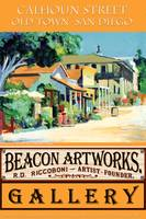 Beacon Artworks Gallery Calhoun Street Poster