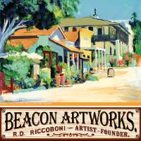 """Beacon Artworks Gallery Calhoun Street Poster"" by RD Riccoboni"