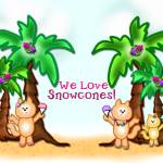 """We Love Snowcones Tropical Cats"" by theblueplanet"