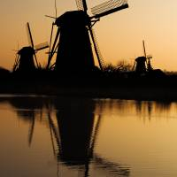 Kinderdijk Windmills Art Prints & Posters by Linas Kardasevicius