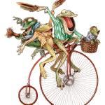 """""""Froggy Quartet"""" by tkylegentry"""