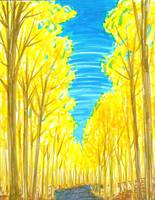 Road Through Yellow Trees