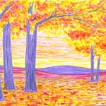"""Foothills Fall Sunrise"" by ADrawingADay"
