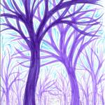 """""""January - Into The Woods"""" by ADrawingADay"""