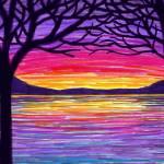 """""""Lake At Sunset"""" by ADrawingADay"""