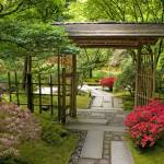 """Through the Garden Gate ~Japanese Garden"" by inkandbrushcreations"
