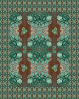 Squash Blossom Influence Rug Design
