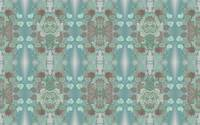 Squash Blossom Turquoise Pattern, textile F