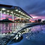 """Gas Station Sunset 12.21.2007"" by notleyhawkins"