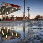 """Reflected Gas Station 2.11.2007"" by notleyhawkins"