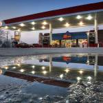 """Reflected Gas Station 3.18.2007"" by notleyhawkins"