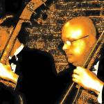 """Double bassists in sepia"" by CheneyLightPrint"