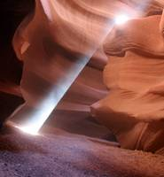 Sun beam in Antelope Canyon