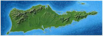 Island of Saint Croix, US Virgin Islands with type