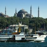 """Hagia Sophia and Ferry, Istanbul"" by canbalci"