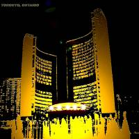 City Hall Toronto, Ontario, Canada-PNG Art Prints & Posters by Sketch Plus