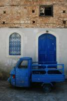 Blue Three-Wheeler