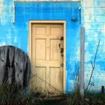 """""""Door on blue wall"""" by eliwarren"""