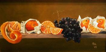 Oranges and Black Grapes