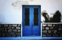 Blue Door In White Wall