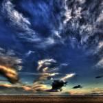 """Humberston (UK) beach sky."" by bad_doggy"