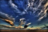 Humberston (UK) beach sky.