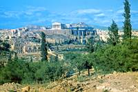 Athenian Acropolis from Philopappou Hill, 1960