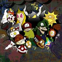 Mario and Friends Urban Explosion Art Prints & Posters by Manuel Garcia