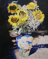 K. Yaude's Sunflowers In Vase