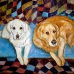 """Golden Retrievers Painting"" by francesbyrne"