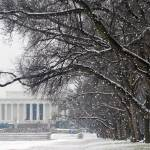 """lincoln memorial winter snow"" by dcphoto"