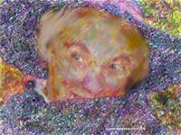 Victorian Lady In Hat and Shawl Impressionistic