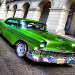 """Emerald Green 1956 Chevy 4dr Coupe Classic car"" by IMAX007"