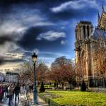 """Night vs. Day at Notre Dam"" by eyepiecearchives"