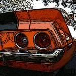 """""""IMG_7793 camaro orange woodcut"""" by pi"""