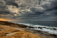 Stormy dawn on the sea - Provence