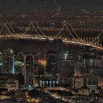 """Bay Bridge and Downtown at night"" by prutowski"