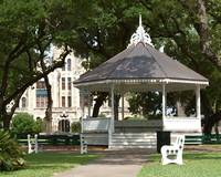 Bandstand and Courthouse-Victoria, Texas