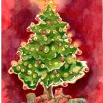 """Christmas Tree"" by arosawatercolor"