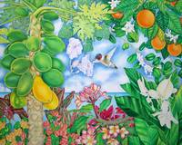 Papayas and Hummingbird