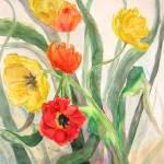 """""""Tulip Garden"""" by MannellGallery"""
