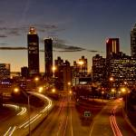 """Atlanta skyline at dusk"" by Duckshoot"