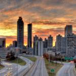"""Atlanta skyline at sunset"" by Duckshoot"