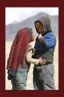 Tibetan kids in love