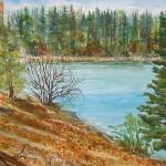 """Forebay in the Fall"" by MannellGallery"