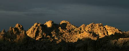 Sunlight on a Desert Rock Range