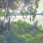 """Birch Trees And Ducks On the Charles"" by AngeloJAversa"